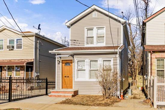 Great 1 family House , 3 bedrooms, Living room Kitchen and 2.5 full bathrooms. Full finished basement , share driveway, Completely renovated new kitchen, granite countertops bathrooms, Hardwood Floors, new boiler , roof , siding,  ready to move in!!!