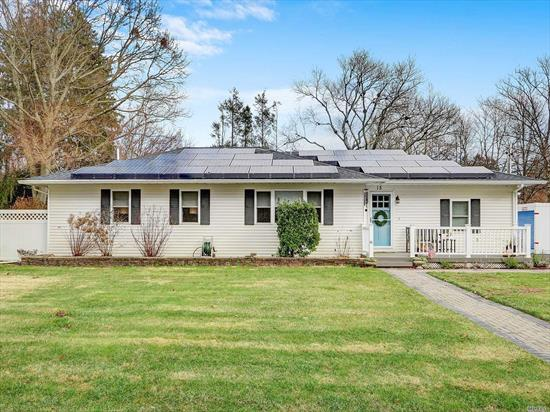 Move Right In To This Beautiful Updated Ranch On Park-Like .5 Acre!! Perfect For Entertaining! Located In Desirable Maplewood Area, This Home Has It All! Bright, Open Rooms, Gleaming Hardwood Floors, Updated Kitchen And Baths, New Roof, CAC, Huge Basement, Solar Panels and More! A Must See!!
