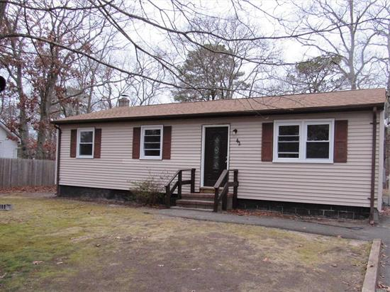 Renovated 3 br home, new roof, new baths, new kitchen appliances,  freshly painted, refinished hardwood floors. LOW TAXES!!!