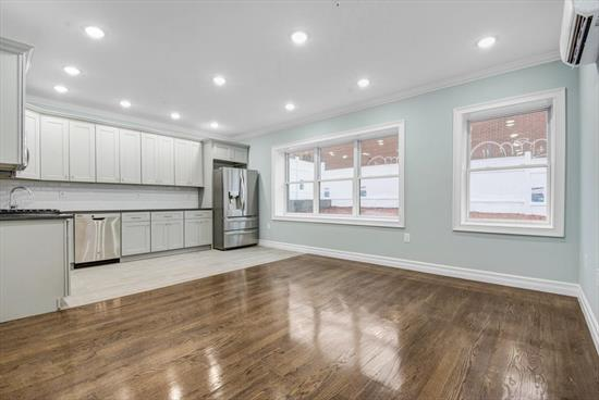 Brand new luxury condominium located in desirable Sparrow Hill section of the Jersey City Heights. Spacious 2 bedroom/2 bath unit, 948 Sq ft plus private yard. Features include fully equipped kitchen with stainless steel appliances and quartz counter tops, hardwood flooring, washer and dryer in unit, ductless split heat/AC units for optimum efficiency, high ceilings and large windows provide lots of natural light.Best location, bordering the Journal Square neighborhood it's just a short distance to the Journal Square Path, bus service to NYC and easy access to the Holland tunnel and NJ Turnpike. Convenient to cafs and shops and Little India.
