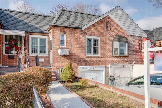 Brick one family home. Full basement, finished. Rec-room, bathroom, boiler& laundry. main floor futures 2 Bedrooms, Living room, Eat-in kitchen. one car garage, private driveway. Spacious back yard. residential neighborhood.