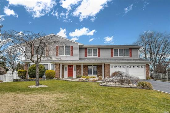 Fabulous Expanded Colonial. All Large Rooms. Its Spacious Layout Boasts A Light & Bright Living Room Open To The Den Creating A Large Great Room, A Formal Dining Room, Large Kitchen, Main Floor Laundry, An Amazing Master Bedroom Suite, (Walk In Closet & Full Bath), 3 Addl' Large Bedrooms, Plus Lg. Guest Suite, 4 Baths In All, Large Basement, More.... All Set On A Flat Fenced Shy Half Acre With A Magnificent Built In Pool. What More Could You Ever Dream Of??? Freshly Painted. Move In & Enjoy!!!
