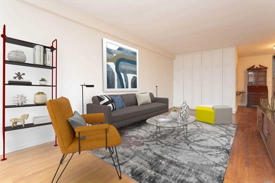 Very spacious and bright 1 BR, 1 BA co-op in the heart of Bayside, entry foyer, all HW floors, many closets, faces East, SD # 25, close to Bay Terrace Shopping Center, community pool, private playground, Q 28, QM 2 and QM 3 across the street, priced to sell, make it your own. Co-op was fully painted December 2019. Flip tax paid by seller.
