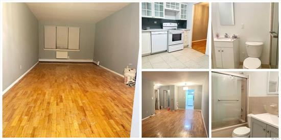 Beautiful Bright True Two full Bedroom and Two Full Bath. Hardwood Floor , !st Floor unit. Heat is included. Dist.26 School Zone. Shopping Mall near by. Express Bus to Manhattan.