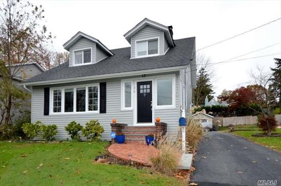Move Right In to This Beautifully Renovated Colonial! Enclosed & Heated Front Porch w/Dutch Doors to Living Room, Fdr w/Sliders to Trex Deck, Eik w/Granite Counters & Stainless Appliances, Mud Rm, Powder Rm 2nd Floor; 3 Bdrms, Full Bath. Full, Part Finished Basement w/Laundry & Utilities. A Must See!