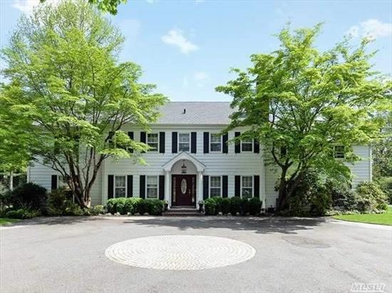 The Brookville's... Stately 6 Bedroom Colonial With Many Special Features. Updated Kitchen, New Great Room, 3.5 Car Garage - Heated - Car Collectors Delight. 2nd Floor Guest Wing. Lovely Flat, Landscaped Property. Room For Pool, Tennis, Horse. Gated. Convenient Location. Acclaimed Locust Valley Schools.