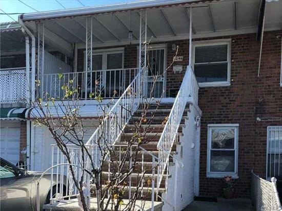 Do Not Miss This Beautiful, Attached 2 Family Home. Both Floors are Completely Renovated. 3 Bedrooms, 2 Baths, Front And Back Balcony, Large Living Room, Dining Room. Both Floors Have Updated Kitchens With SS Appliances, Hardwood Flooring and Updated Bathrooms. Private Fenced-In Yard. Located Just North Of Northern Blvd, Close To Transportation, Shopping, and Restaurants.