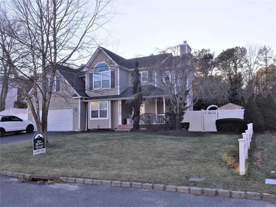 Beautiful and spacious home in Country View Estates! Bayport/Blue Point Schools!! Finished basement with full Bath. Country Club backyard with covered Outdoor Livingroom, IG Pool, BBQ and Pergola! Radiant heat in Foyer, Kitchen and Master Bath. Shed is a gift.