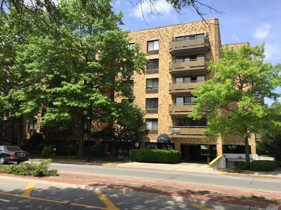beautifully renovated unit, LR, Dining Area, EIK, Master Bedroom & Full Bath, Guest Bath, Laundry in unit, terrace, 2 parking spots 1 indoor 1 under the building, Pets ok , great location doorman building Large unit 1050 sq feet, walk in closet.