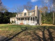 Beautiful home on 1.2 acre corner lot,  Approx 3000sqft living space,  large floor plan , with wrap around front porch Full basement with OSE, Over sized side entry 2 car garage. large bedrooms.