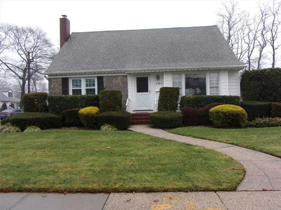 Move into this meticulously maintained cape featuring 2 updated baths, Beautiful HW floors, Updated windows, Roof and Burner. Newer sidewalks and driveway. In Ground Sprinklers. Most rooms freshly painted. Upstairs attic room can easily be finished to make 4th Br. Camp Ave El, Merrick Ave Middle School, Calhoun HS, Move right into this pristine home.
