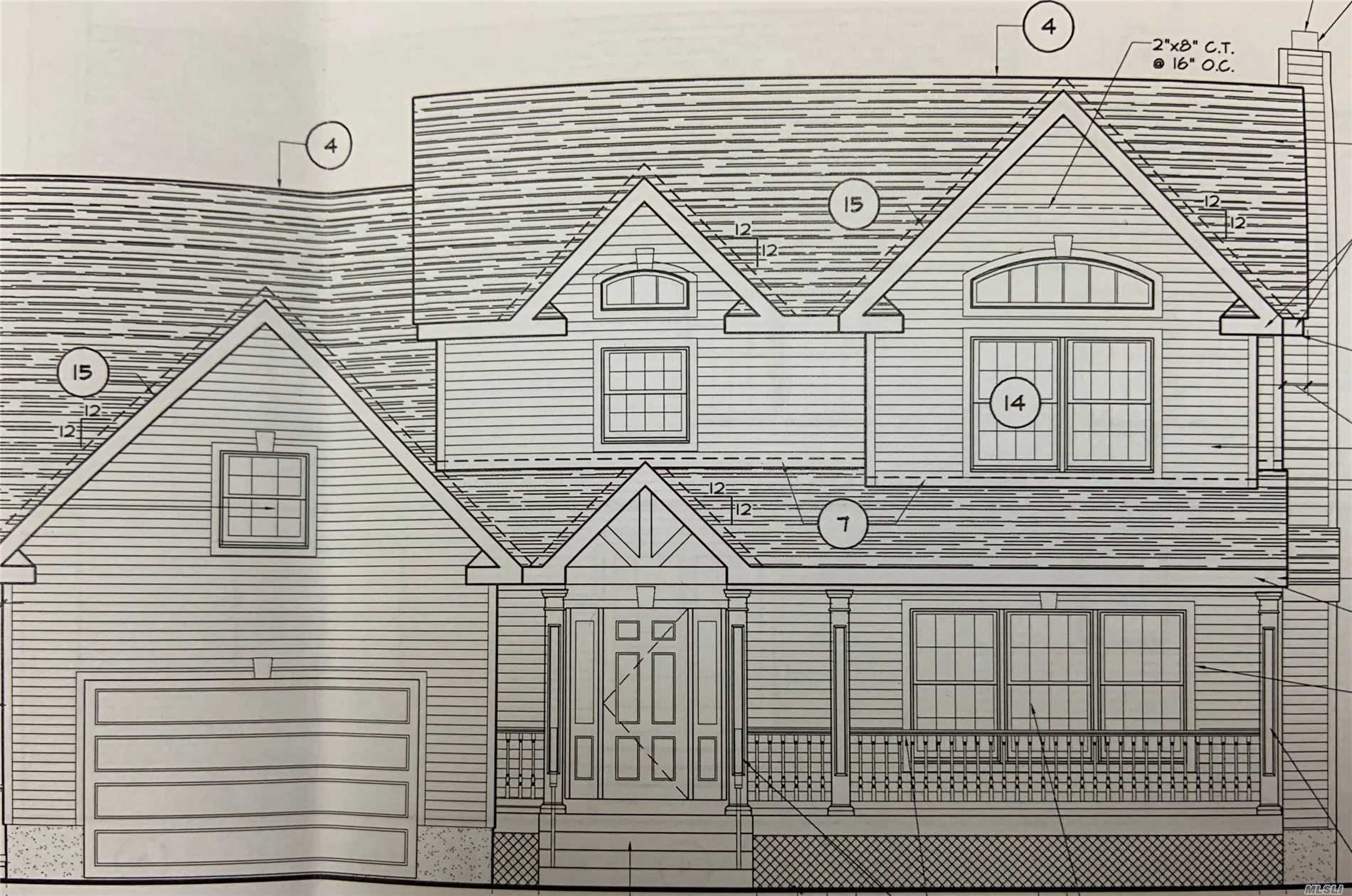 Brand New Construction! Colonial w/Covered Front Porch to be Built in Prime West Islip School District! Roomy Entry Foyer Will Welcome You Home to the Spacious Main Floor Kitchen w/Pantry, Large Open Dining Room, Living Room + Great Room w/Fireplace, Half-Bath. 2nd Floor Boasts Master Suite w/Full Bath + 3 Bedrooms + CPU/Sitting Room, Laundry and Full Bath.