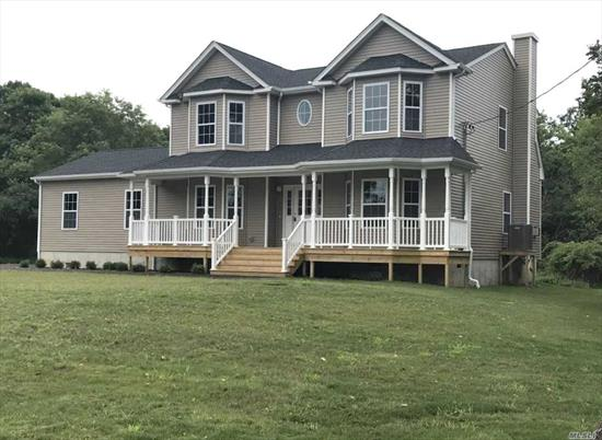 New Colonial To Be Built-4 Bedrooms 2.5 Baths 2 Car Garage-Full Basement-Custom Kitchen/Granite Countertops, 9 Foot Ceilings 1st Floor, 2 Zone CAC, Oak Floors 1st Floor Steps & Upstairs Hall, 2 Zone Gas Heating, Master Suite With Full Bth & Lge Wic, Private 1/2 Acre Lot