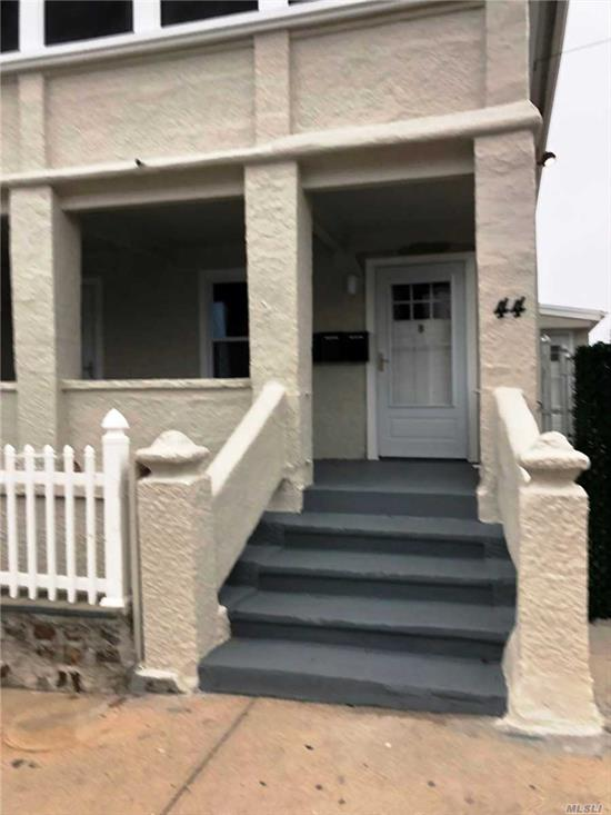 Totally renovated 2nd floor apartment with Open EIK / Living Room, Full Bath, 2 Bedrooms, Attic for Storage.. Washer and dryer hook-up , Sunroom for relaxing...