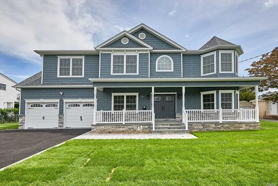 Brand-New Custom Center-Hall Colonial Currently Being Built On Prime 9500 SqFt Lot. *Pics Are Of Same Model Home By Same Quality Builder Of 30+ Yrs/400+ Homes.* Winter 2020 Completion-- CUSTOMIZE FINISHES NOW! Approx 3450 Total Int Sq Ft Of Open Floor Plan (+Huge Bsmt w/O.S.E, +F.Porch) Expertly Designed & To-Be-Finished W/The Utmost Quality Of Craftsmanship. Designer Baths, Custom Kit W/Prof Appliances, Pella Wdws, Intricate Trimwork Throughout, 1st Flr Bdrm/Office & Fbath, 2-Car Gar, +More!!