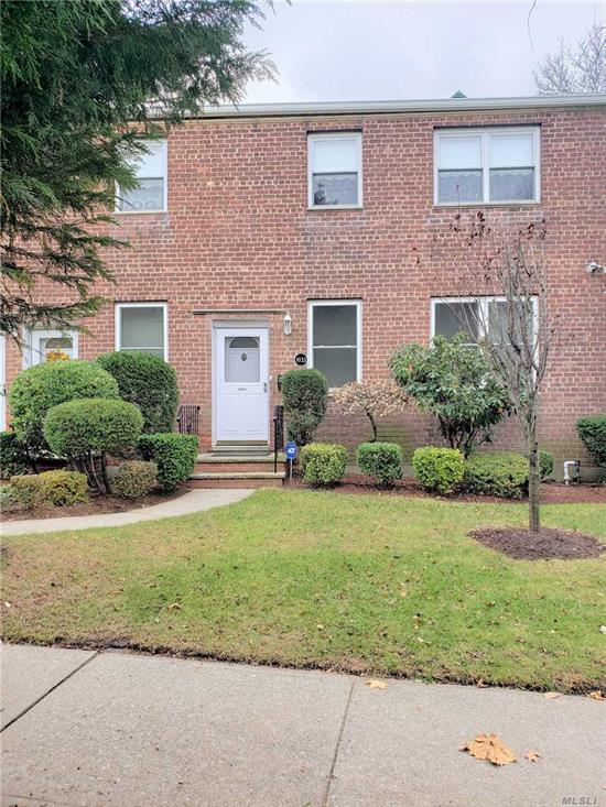 Beautiful Corner Unit on the First Floor in Malba Gardens. Features a Living Room/Dining Room Combo, Kitchen with New Appliances, 2 Large Bedrooms, 9x15 & 13x13, 1 Full Bathroom, Crown Moldings Throughout, Central Air/Heat, Ceiling Fans, New Windows and Laundry Room on Premise. Includes Garage #13.
