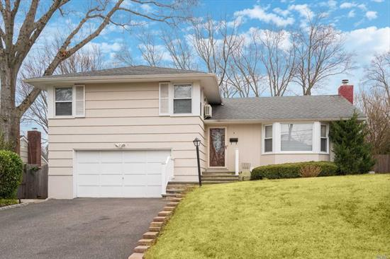 Mint & Spacious House with Master Bath, Updated Kitchen, Roof, Windows & Furnace. Hard Wood Floors Throughout. Private property with IG Gunite Pool, Patio. Located on a quiet Cul-de-Sac close to Huntington Hospital, Hecksher Park and Village shops.