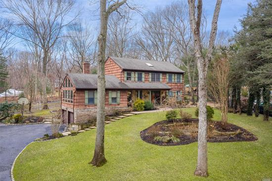 Amazing Colonial on 1.1 Acre of Park Like Property on Private Cul-de-sac.: In Ground Pool w/ Cabana, Koi Pond, 2 stall barn, 2 grass turnouts, Riding Ring, Patio/Deck, Entry Foyer, Cozy Up Near Wood Burning Fireplace in the Great Rm w/ Vaulted Ceiling, EIK with Stainless Steel Appliances, Huge Dining Area, Living Rm/Office, Three Bdrms, 2.5 Bths, Full Finished Basement w/ Walkout to a Two Car Garage. Beautiful Horse Property, Nearby Shopping, Restaurants, Park, & Highways.