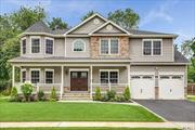 BRAND-NEW Custom Center-Hall Colonial 100% COMPLETED On sprawling property! *Photos Are Of ACTUAL Home by QUALITY builder Of 30+Yrs/400+Homes.* Prime/Private Yet Central Loc On Dead-End Block Filled W/Gorgeous Homes. 3400 Int SF Of Open Floor Plan (+F.Porch & Bsmt w/ O-S-E) Expertly Designed & Finished W/Utmost Quality Of Craftsmanship. FEATURES= Designer Baths & Eat-In-Kitchen W/Granite Ctops & Prof SS Appliances, Pella Wdws, Exquisite Trimwork, 1st Flr Bdrm/Office & Fbath, 2Car Gar, +MuchMore!