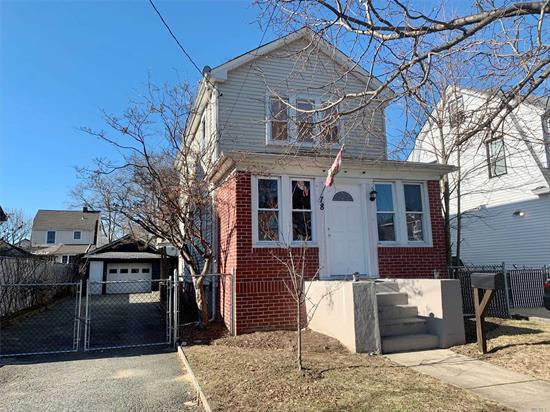 Valley Stream- Just In! 5 Room Colonial with Full Basement, 2 Bedrooms, Formal Dining Room, Detached Garage, Valley Stream SD #24. Only Asking $410's