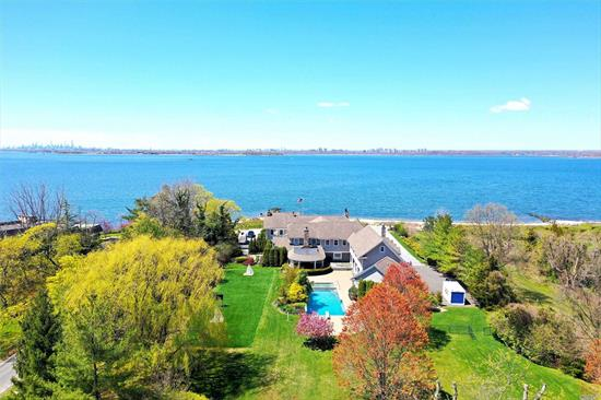 Completely Renovated Waterfront Estate Situated On 2.2 Acres Of Perfectly Manicured Land With Unobstructed Views Of The New York Skyline And All 3 Bridges.
