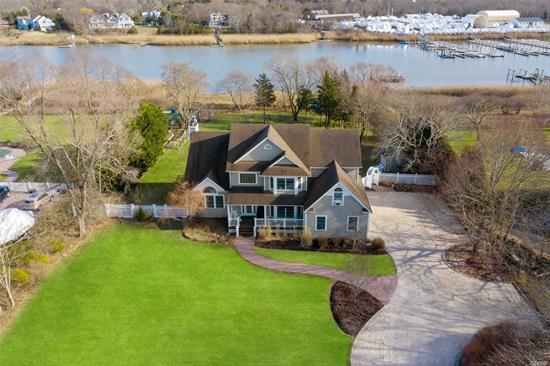 The waterfront opportunity of a lifetime. Priced for immediate sale. Beautiful, well maintained Post Modern on 1.6 acres of waterfront. Open floor plan with chefs kitchen. Master suite with fireplace. Deep water dock for multiple boats. Heated gunite pool. 2+ car garage. Finished basement.