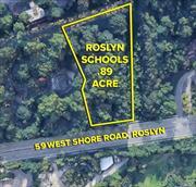 Prime, buildable lot in Roslyn schools. Waterviews! Shy 1 acre.