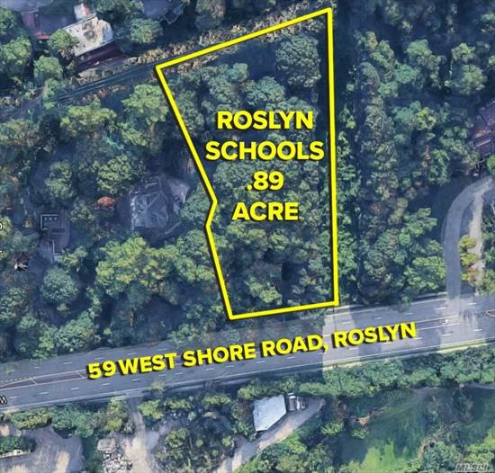 Prime, buildable lot in Roslyn schools. Waterviews! Shy 1 acre.
