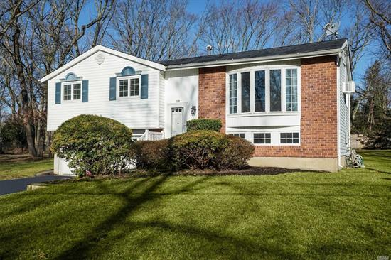Nicely Updated Hi Ranch In Commack Schools On A Shy Half Acre Flat Property Allows For A Great Entertaining Flow. Enjoy Cooking In The Kitchen w/ Ss Appl's/ Granite Tops/Tile Back Splash/ Maple Cabinets Which Over Looks the Beautiful Tranquil Yard. The Sliding Glass Doors Off The Kitchen To Wood Deck Makes It Easy To Entertain Outdoors. The Home Boasts Hw Flrs/ Wood Rails/ Anderson Windows/ Updated Baths/ Heating System & Electric Panel. Move In & Be Proud To Call This Home!!