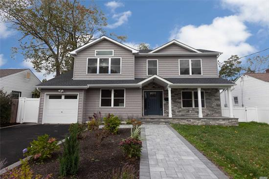 Stunning new home with 5 bedrooms, 3 full bathrooms and full basement. Beautiful kitchen with granite countertops, high end cabinets and stainless steel appliances. There is even space for an office,  and this spectacular home is in highly desirable Plainview school district.