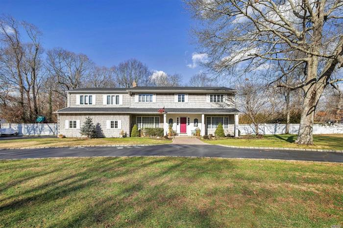 Gorgeous Center Hall Colonial featuring 3900' of living space! Master Suite with walk in closet, master bath, Formal entry, formal Dining and Living Rooms, Eat in Kitchen, Den, Office, 2 Car Garage, Circular Driveway, 20x40 IG Free Form pool all situated on 1 acre in one of the prettiest neighborhoods around!~ This is the one you have been waiting for!~