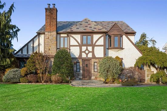 Magnificent English Tudor in heart of RVC's Bryn Mawr area. Combines the exterior beauty and elegance of a traditional Tudor with an uncharacteristically bright and airy interior! The 1st floor boasts 4 stately rooms with high ceilings, gorgeous cherry floors, and meticulous attention to detail. Upstairs finds a large Master BR w/ en-suite & and 2 lg bedrooms all with WICs! Walk-up finished attic. Wood floors in basement and large pvt backyard w/brick patio both perfect for entertaining!