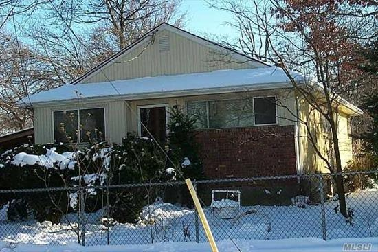 House Being SOLD AS-IS! This Ideal Ranch Needs Some TLC, 3 Bedrooms Eik, Lr, Dr, Full Bath. Full Unfinished Basement. Newer Gas Stove, Vinyl Siding, & Some Newer Windows. Gas Heat. Make this Your Dream Home!!!