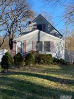 Charming 2 Br Cape. Great starter home w/Tremendous upside potential. Great location, close to beaches and local shopping. Vinyl siding, sliding door to rear deck.Fenced yard w/vinyl fencing in front. Low taxes. Cesspool approx 4yrs old.