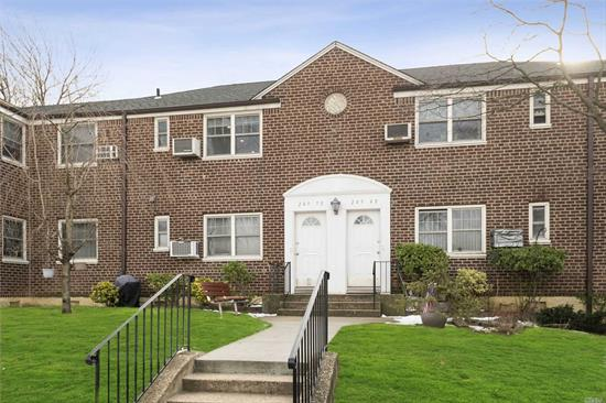 A spacious two BR unit with recently renovated kitchen with new appliances and newly installed wood floors. Washer and dryer in the unit with full attic for ample storage space. Renowned school district #26 (P.S. 221 & J.H.S. 67. All utilities included in the maintenance fee. Close to all and quick access to major highways.
