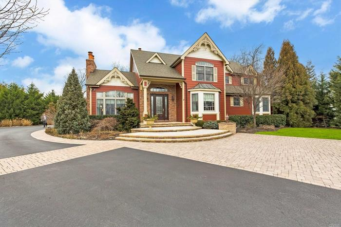No Expense Spared! Circa 2005, 4, 271 sq.ft Vintage Style, Custom Colonial, 5 Bedrooms, 3.5 All Custom Baths, 3 Fireplaces, Story Book Two-Story Foyer, All Traditional Features, 2-Car Attached, Heated Garage, .64 Ac, Cul De Sac Location, Very Private, Well Landscaped Property, Outside Custom Fireplace, Beautiful All Stone Walkways & Patios, Chef's Kitchen Featured In Homes Magazine, Full Basement.
