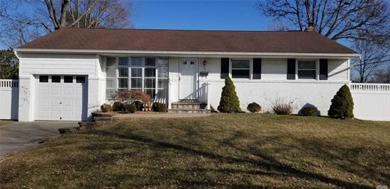 Great Value in Commack Schools, Freshly Painted,  3 Bedrooms, 1.5 Baths, , Near Burr Winkle Park Of Smithtown W/ Tennis, Basketball, Play Ground, Fenced Yard, 1 Car garage, Many new Windows, Deck , Patio, Updated Roof