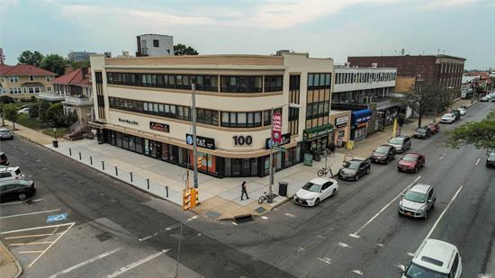 Prime office / retail corner building across from City Hall and the LIRR. Building completely renovated in 2013. 24 offices with 4 retail tenants. 4 common bathrooms with 3 private bathrooms. Property is maliciously maintained daily. Great secure tenants with plenty of upside potential. Contact for a full set up.