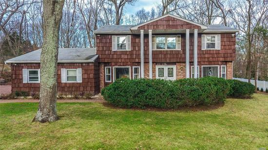 Spacious 5 Bedroom Colonial On private One Acre, Cul-De Sac, Great Room W/ Fpl, EIK, W/ Sliders to New Trex Deck, Spacious LR, DR, New 1/2 Bath, 1 BR W/ Full Bath On First Floor, Second floor features MBR Suite W Fbth & WIC, 3 Bedrooms And Bath, Paver Driveway on 1 acre. This is a great opportunity! Not to be missed!