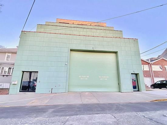 1st floor warehouse for lease, 5, 000 sq. ft., with 20 ft ceilings. Small private office on 2nd floor, plus storage area. Includes property tax 3% annual increase.