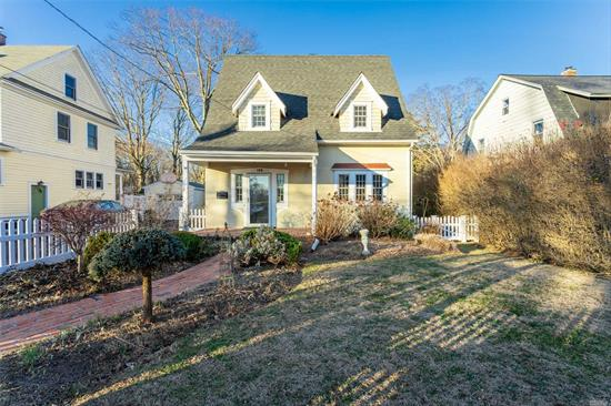 Adorable Story Brook Tudor Loaded with Charm. Freshly Painted Floors Refinished. Updated Kitchen and Baths, Windows, Roof, Gas Heat and CAC. 2 Car Detached Garage. Private Yard. Close to Village, Library and Shopping.