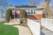 Move in condition 3 bdrm updated Ranch conveniently located to the LIRR, parkways and shopping! Updates include approx. 9 yr kitchen, 3 1/2 yr solar panels (owned and not leased) 3 1/2 yr upgraded 200 amp electric, 1 yr gas hot water heater. Anderson windows. Won't last!!