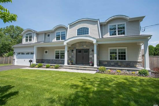 One Of A Kind North Syosset Hamptons Style Home! Exquisite Appointments and Luxurious Upgrades Galore! Close To Town & LIRR!. New Construction! 5 Bedrooms, 4 Full Baths, 2 Car Garage, Fireplace, In-ground Sprinklers, High End Appliances & Much More!!