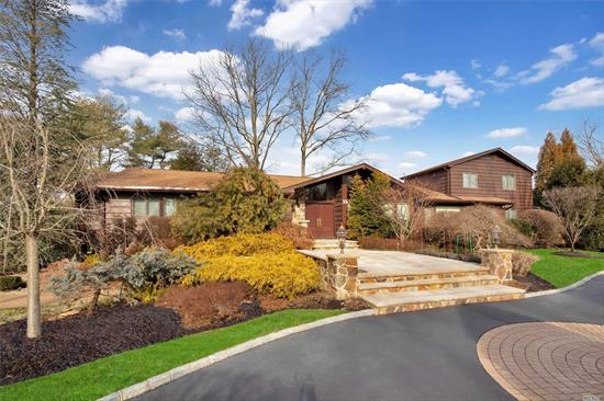 This One of a Kind, Newly Renovated Expanded Ranch Boasts Every Conceivable Amenity. This 6 BR, 5.5 Bath Home Features a Chef's Kitchen, Dramatic Master Suite w/Gas Fpl, Two Large WIC & Custom Bath W/Jacuzzi. Perfect for Entertaining, the Sun Drenched Den Feat a Stone Fpl, Gorgeous Living Room, FDR & Fin Basement. Nestled On Over an Acre Of Prof Landscaped Grounds, Heated Pool, Specimen Plantings. Half Hollow Hills SD.