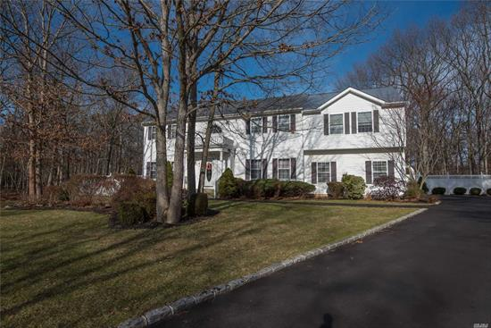 Beautiful 3, 000 Sq Ft Colonial W Legal Accessory Apartment. Situated on a Private Wooded .71 Acres in the Prestigious Island Estates Community. Home Boasts: Den w Custom Gas Fireplace. Large Eat in Kitchen w Granite Counter Tops. CAC. Huge Master Br w a Walk-in Closet & Tray Ceiling. Master Bath w Oversized Tub. Formal DR w Wood Flooring. Full Basement. 2 Car Garage. Paver Patio. Must See!!!