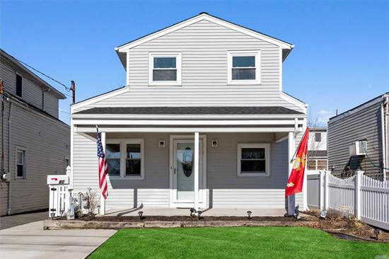 This charming cape features an open layout,  Updated kitchen with stainless steel appliances and granite countertops. 3 Bedrooms, 2 full baths,  update roof, windows and heating system. Attic storage. Fenced yard. Minutes to the beautiful south shore beaches, 50 minutes to NYC on LIRR, near train, shopping.