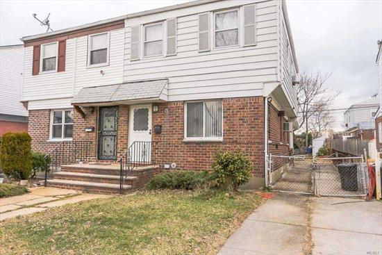 Excellent Location of Flushing. The House is facing South. Newly Renovated.Charming 3 Bedrooms, 1.5 Bath, Full Finished basement. Private Driveway. Close To public schools, Queens College, restaurants, Close to major Transportation I-495/I-678 Highways and Buses Q25, Q34, Q17 to Flushing , School District #25. Near Kissena Park.