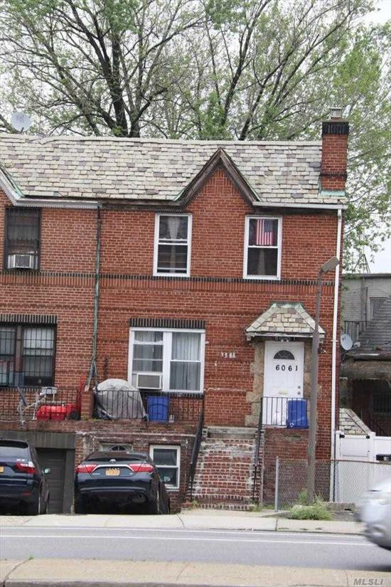 Ideal for Investor! Great 3 family brick home for sale located on Woodhaven Blvd., close to trains, near QC Mall,