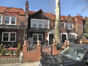 This gorgeous 1 family, attached brick English Tudor style home features beautiful interiors with hardwood floors plus a bar with a relaxing ambiance. Excellent condition! Close to many shops, restaurants, post office, ands minutes walking distance to several parks including Roy Wilkins park.