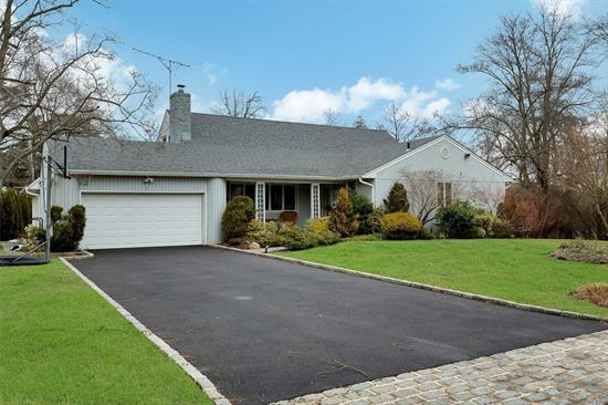 ROSLYN 5 BEDROOM FARM RANCH SET ON ALMOST 1/2 ACRE IN TOP LOCATION. MASTER ON FIRST FLOOR IN TOP LOCATION. LARGE DEN/SKYLITE, OVERSIZED KITCHEN, SUB ZERO REFRIGERATOR AND SLIDING DOORS TO 2 TIER DECK, PATIO AND FIRE PIT OVERLOOKING ONE OF A KIND PROPERTY. POOL AND TENNIS COMMUNITY. ROSLYN SCHOOLS. GAS AVAILABLE. ANDERSEN WINDOWS, HARDWOOD FLOORS, UPDATED ELECTRIC PANEL, UPDATED WATER TANK AND MORE!!